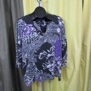 Karen Scott Paisley Shirt